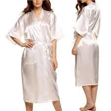 plus size silk robe mens women plus size long satin bath robe sexy peignoir homme kimono