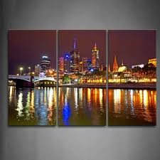3 piece wall art painting melbourne city is very busy print on inside 2018 canvas wall on wall art painting melbourne with showing gallery of canvas wall art in melbourne view 2 of 15 photos