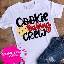 » free svg cut files. Cookie Baking Crew Svg Scarlett Rose Designs