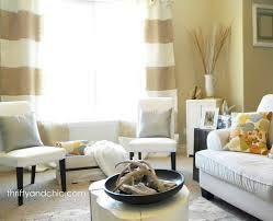 Striped Living Room Curtains Thrifty And Chic Diy Projects And Home Decor