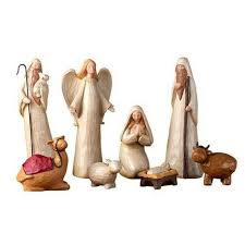details about nativity set rustic ocean charm drift wood look removable baby 8 inch 9pc