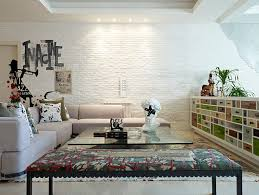 white brick wall is a favorite among contemporary homeowners looking for textural contrast design