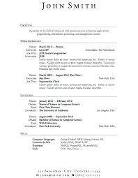 Free Work Experience No Job Experience Resume Templates With Work High School Student