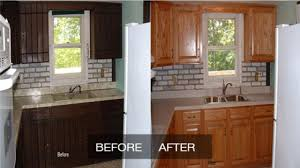 Diy Kitchen Cabinet Refinishing Kitchen Cabinet Refinishing Before And After Meltedlovesus