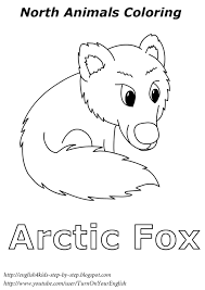 Arctic Fox Coloring For Kids Esl