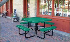 green supersaver commercial square picnic tables