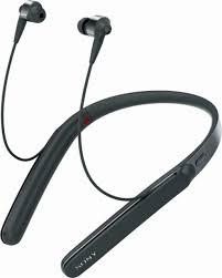 sony 1000x. sony - 1000x premium wireless noise cancelling behind-the-neck headphones black 1000x y