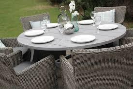 round rattan dining set 6 seater table furniture outdoor grey regarding wooden garden furniture 6 seater