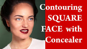 contouring and highlighting a square face how to apply makeup on square face video tutorial
