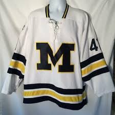 K1 Hockey Jersey Size Chart Custom Name Michigan Stags Retro Hockey Jersey New White