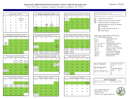 Calendar Resources Inglewood Unified School District