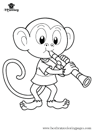 Printable Monkey Sock Monkey Coloring Pages Printable Monkey