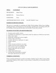 Custodian Sample Resume Application Letter For Maintenance Position Inspirational Sample 14