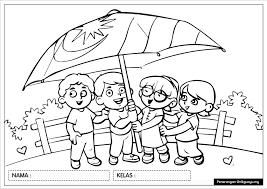 Wallpaper ilustrasi anime payung garis seni gambar kartun. Gambar Pertandingan Mewarna Sempena Sambutan Bulan Kebangsaan Cikgu Ayu Dot My