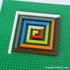 Lego Patterns Beauteous Build Math Patterns With LEGO Bricks Frugal Fun For Boys And Girls