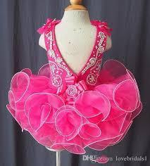 Handmade Skirt Size Chart Elegant Girl S Pageant Dresses For Toddler Cake Skirt Handmade Flowers Bow Back Snap Drain Back Jumpsuit Sparkling Cheap Free Shipping