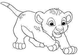 baby lion coloring pages funycoloring