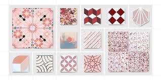 cement tiles pink mosaic factory