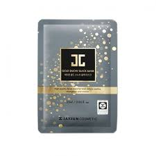<b>JAYJUN Gold Snow Black</b> Mask - 1 Box of 5 Sheets