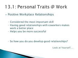 Good Work Traits List Two Managerial Traits That You Feel Are Necessary For