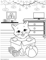 Cat 7 coloring page from cats category. Super Cute Cat Coloring Pages Easy No Prep Kids Activity The Artisan Life