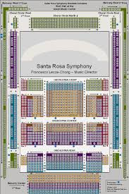 Graton Casino Seating Chart Seating Charts At Santa Rosa Symphony