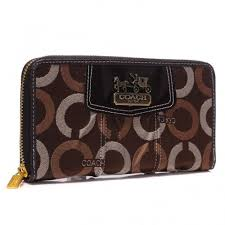 Coach Waverly In Signature Large Coffee Wallets BDC
