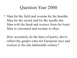 gender roles in the th century