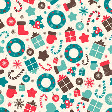 Christmas Pattern Background Beauteous Retro Style Christmas Patterns Winter Background Endless Texture