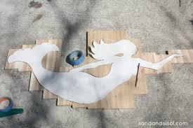 how to make wood mermaid art on white wood cutout wall art with seaglass and cedar mermaid art sand and sisal