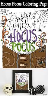 free hocus pocus coloring page