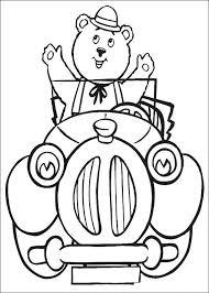 Kids N Fun Kleurplaat Noddy Meneer Bolle De Beer In De Auto