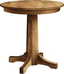 remarkable unfinished bistro table with pinnacle round single pedestal pub table from dutchcrafters amish