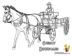 Print Out Cowboy Coloring Page Picture Of Cowboy Riding A Buckboard