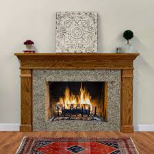 the hawthorne is a traditional wood fireplace mantel
