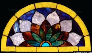 colored glass panels why else should you choose stained inc for your transom installation is quick