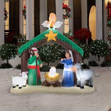 lighted outdoor nativity scene simple scenes light up manger fabulous inflatable the home depot with lighted