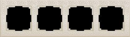 <b>Рамка</b> на 4 поста (слоновая кость)