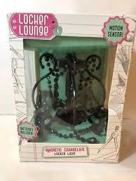 magnetic locker lounge chandelier black motion sensor light teen room decor