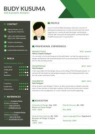 40 resume template designs creatives flasher resume template green