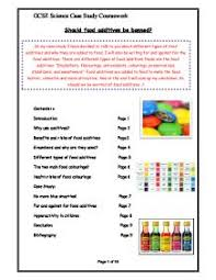 should food additives be banned gcse science marked by  page 1