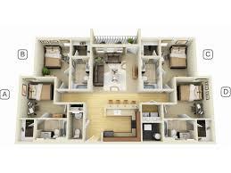 luxury apartment floor plans 3 bedroom. Delighful Bedroom Campus Quarters Luxury Apartments Intended Apartment Floor Plans 3 Bedroom