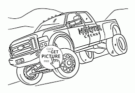 Monster Truck Coloring Pages To Print Monster Trucks Coloring