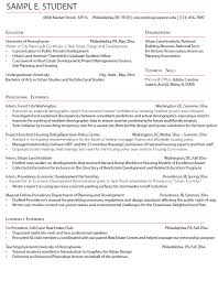 Sample Resume For Summer Internship Best Of Career Services Sample Resumes For PennDesign Students