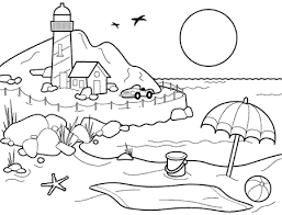 Printable Coloring Pages Beach Download Them And Try To Solve