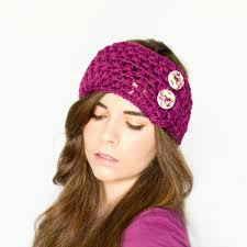 Ear Warmer Crochet Pattern Cool New Crochet Ear Warmer Headband With Button Pattern Start BOSYXMX