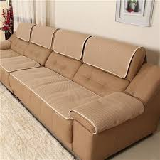 leather couch slipcovers details about high quality leather sofa cover chair couch slipcover plaid 3 leather