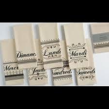 French Days Of The Week French Days Of The Week Kitchen Towel Set Nwt Boutique