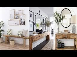 mirror ideas wooden console table decor