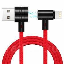 Дата-кабель <b>Baseus</b> Magnet <b>Apple 8pin</b> черно-красный ...